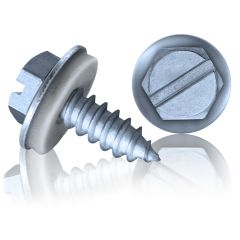A4 SUPER Slotted Hex Head Self-Tapping Screw (EPDM Washer)