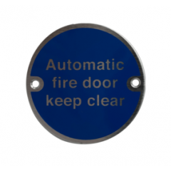 Automatic Fire Door Keep Clear Disc