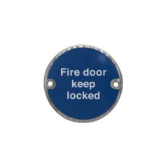 Fire Door Keep Locked Disc