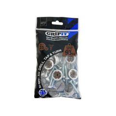 GripIt 20mm Plasterboard Fixings - 25 Pack