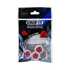 GripIt 18mm Plasterboard Fixings - 4 Pack