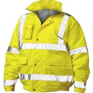 Yellow Hi Vis Bomber Jacket