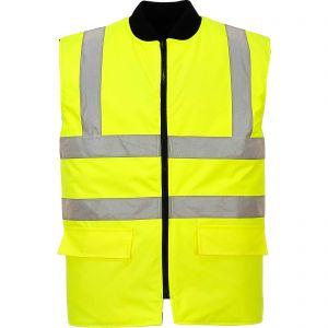 Hi Vis Yellow Bodywarmer - sml, med, lrg, xl, xxl, xxxl