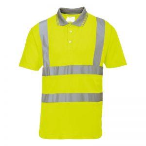 Hi Vis Yellow Short Sleeve Polo Shirt, sml, med, lrg, xl, xxl, xxxl