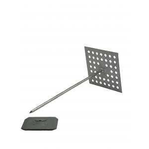 angled photo of Perforated Base Insulation Hangers 62mm - Aluminium - Box of 500