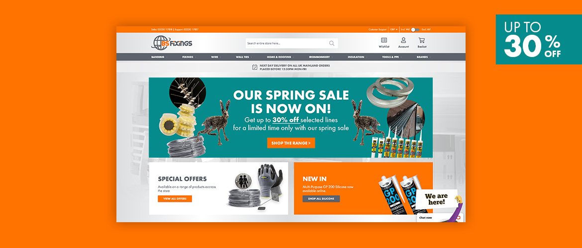 The BS Fixings Spring Sale starts now!